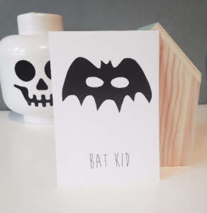 Bat Kid postcard professionally printed by Horner & Sons, Knaresborough.