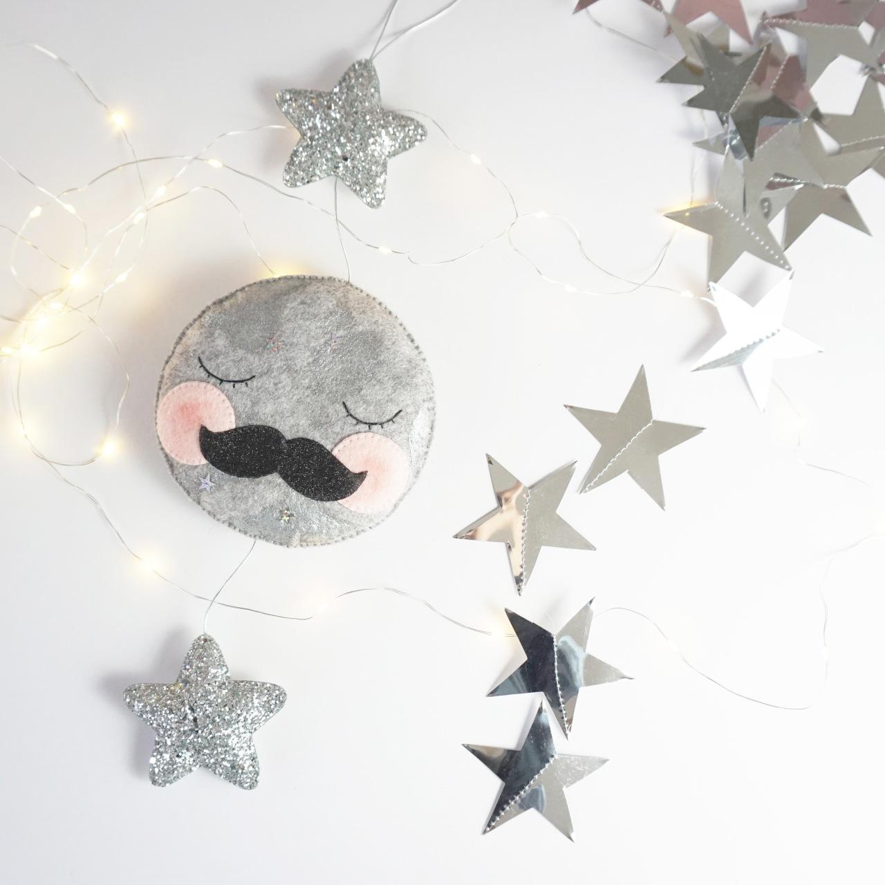 Velveteen Babies Moon decoration