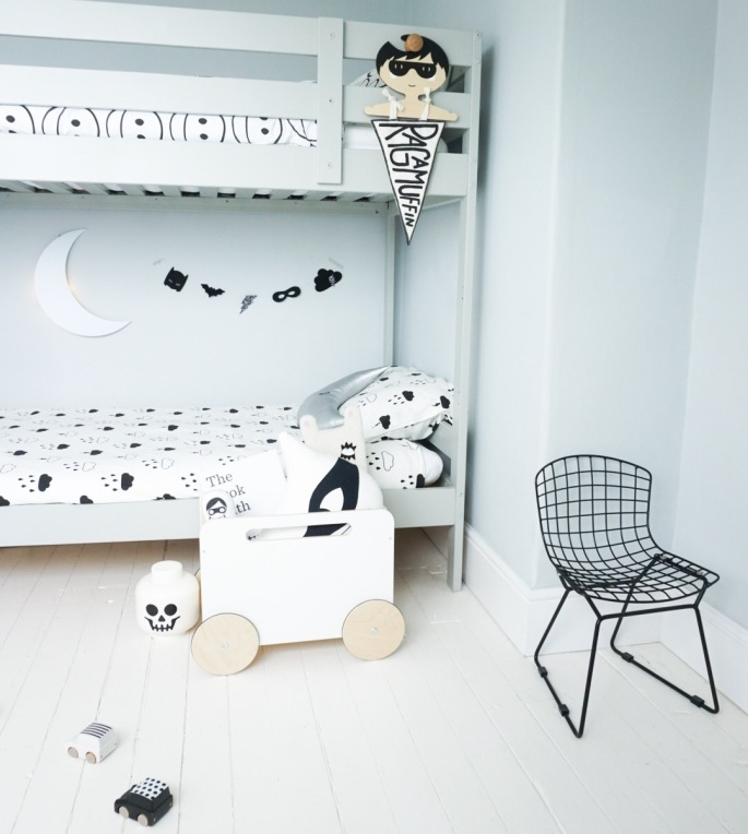 Superhero theme room Ikea Mydal bunk bed