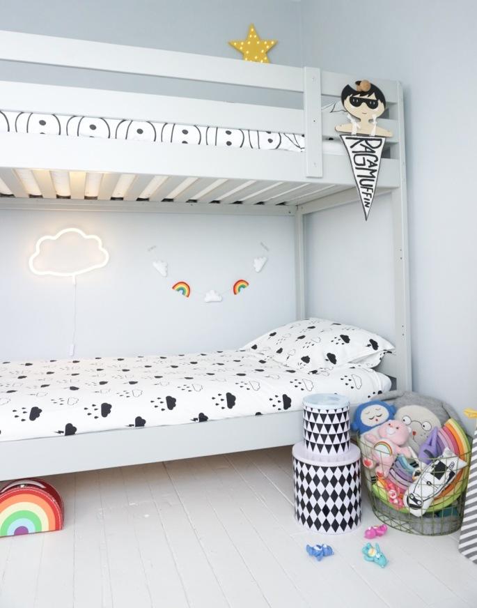 Rainbow theme kids room